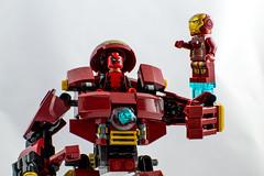 Stolen Hulkbuster (hydra25) Tags: lego legos minifig marvel comics comic avengers d3100 nikon macro hulkbuster hulk deadpool