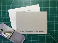 and done (interrobang letterpress) Tags: typography helvetica letterpress stationery jamaicaplain handset duplexpaper hahnemhlebugra helveticaregularextended