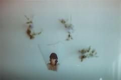 (merra marie) Tags: flowers flores reflection film girl 35mm mirror minolta kodak 200 espejo reflejo xg2