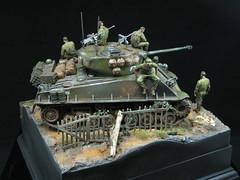 "WW2 Sherman ""Fury"" (T Markham) Tags: ww2 fury sherman commission diorama water"