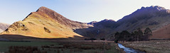 Buttermere 02 (Ice Globe) Tags: summer panorama sun lake colour reflection water 35mm reflections landscape landscapes waterfall spring nikon scenery warm colours district lakes sunny panoramic cumbria hay pike stacks buttermere fleetwith d5100