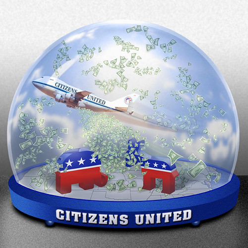 Citizens United Money Globe