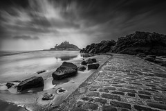 St Michael's Mount, Cornwall, UK [Explore] (Davoud D.) Tags: uk longexposure castle cornwall chapel explore nationaltrust stmichaelsmount marazion mountsbay explored