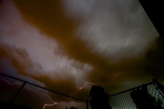 stretching the electric tentacles (Beau Finley) Tags: cloud storm fence washingtondc districtofcolumbia thunderstorm lightning thunder beaufinley