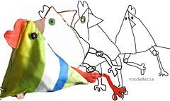 hendl2 (atelier MtR) Tags: chicken huhn bags taschen tschchen kulturbeutel kosmetiktschchen
