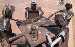 Dominos anyone ? (SamSpade...) Tags: plaza lamp metal square table san cathedral dominos pedro cartagena sculptures dominoes claver 571 abigfave 3942 plazasanpedroclaver 140228