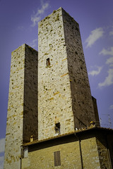 Double tower in San Gimignano (Sacha 2D) Tags: voyage leica italy europe tuscany toscane italie 2014 travelphotography leicam8 leicaelmaritm28mmf28 lensblr photographersontumblr sacha2d