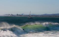 Cold front on the horizon (MN_2) Tags: ocean sea southafrica surf waves capetown surfing bodyboarding gordonsbay bikinibeach