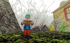 Listen to the gnome! (LoneSolitarian) Tags: life light shadow art nature beauty dark landscape photography photo 3d gnome scenery gimp romance sl secondlife virtual second serene sim firestorm windlight frisland lumipro