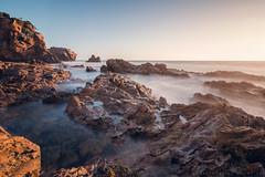 Corona Del Mar Beach (mnlphotography) Tags: ocean longexposure sunset seascape beach nature water canon landscape waves tokina hin coronadelmar 70d induro indurotripod