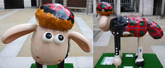 Shaun In The City - Hamish (cocabeenslinky) Tags: park city uk england london up by giant children lumix franklin march scotland sponsored kilt sheep photos auction united nick capital great flock trails kingdom grand panasonic round wallace shaun hamish ros fundraising walkers shortbread sculptures gromit supporting appeal sporen the aardman codes in hospitals 2015 vario dmcg6 cocabeenslinky
