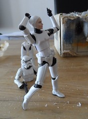 stormtrooper girl's modification (greedo06) Tags: trooper girl female star action figure stormtrooper wars hasbro