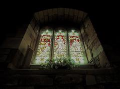 all saints kirby on the moor 1 (ian.meekham) Tags: flowers light shadow texture church window dark yorkshire stainedglass olympus negativespace spirituality lightshadow tone lightandshadow stainedglasswindow churchinteriors em5 yorkshirechurches olympusem5