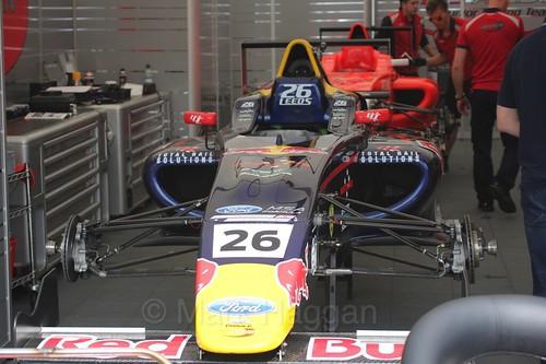 Luis Leeds' British Formula Four car during the BTCC Weekend at Thruxton, May 2016