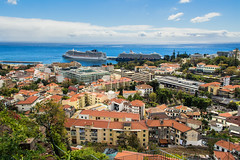 Funchal (Vittorio.DellErba) Tags: landscape sky portugal funchal island sea nature city trees homes palaces color clouds ships outdoor hills nikon d7100 blue green orange yellow lights shadows