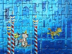 Cats in Venice (Sven Hartmann) - detail views (Leonisha) Tags: detail cat chat puzzle katze jigsawpuzzle