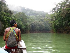 Embera Indian on Chagres River, Panama (Jake Laun) Tags: indians panama embera