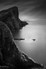 Neist Point (Paul S Ewing) Tags: uk longexposure blackandwhite bw seascape skye point mono scotland moody cliffs highland isle hebrides neist