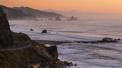 Sundown (> Russ<) Tags: ocean sunset newzealand beach nature beautiful coast rocks coastline westport tasmansea westcoast punakaiki greymouth pointelizabeth beautifulnewzealand canon7d kiwiimages canonnewzealand thegreatcoastroad worldstoplocations