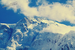 Over The Top (Ahmed Jalbani) Tags: travel blue pakistan sky mountain snow tourism clouds hiking meadows 2nd fairy karachi ahmed largest nanga parbat kpk jalbani