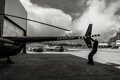 Chopper Day (PetterPhoto) Tags: chopper helicopter torvald kjevik kristiansand fly aerial air clouds oneman noraviation aviatior aviation bw blackandwhite sky noiretblanc norway