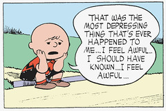 That was the most depressing thing that's ever happened to me (Tom Simpson) Tags: illustration vintage comics peanuts 1950s comicstrip charliebrown 1953 charlesmschulz newspapercomics