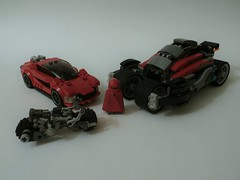 Crimson Conveyance (jgg3210) Tags: urban crimson lego tech security ii cycle superhero ready cloak heroes combat cruiser watt league insurrection loh minifigure moc enforcer i leagueofheroes