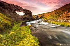 Foss (Gujn Ott) Tags: sunset sky cloud sun mountains nature river landscape iceland rocks waterfalls foss  nttra snfellsnes sk himinn klettar landslag fjll foss slsetur singhrayreversendgraduatedfilter