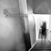 sherry in the glass (1crzqbn) Tags: longexposure selfie blur bokeh me stairs motion one portrait bw 7d person two square up running 1crzqbn