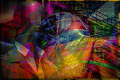 Pareja (seguicollar) Tags: imagencreativa photomanipulacin art arte artecreativo artedigital virginiasegu colorful vistoso maniqu escaparate vestidos muecos brillante pink rosa