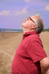 898 of 1096 (Yr 3) - Drinking in the sun (Hi, I'm Tim Large) Tags: old summer sun man male guy beach face sunshine john warm fuji warmth somerset mature older fujifilm 1855mm fujinon sunbathing xf brean xe1 timlarge tacraftphotography tacrafts