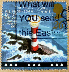 "great stamp Great Britain 26p lighthouse ""The Smalls"" ( Pembrokeshire, Wales; built 1859; Leuchtturm, farol, latarnia morska, phare, , faro,  svetilnik  fyrtrn  , majakka majk, fyret tuletorn   fyr ) timbre UK Un (thx for sending stamps :) stampolina) Tags: uk greatbritain england lighthouse postes square faro unitedkingdom gb british farol  phare commonwealth postzegel leuchtturm selo bolli quadrat sello sellos latarniamorska briefmarken fyrtrn frimrken  francobollo selos timbres frimrker  francobolli bollo zegels  zegel znaczki  svetilnik  frimerker  grosbritannien    blyegek  raztka"