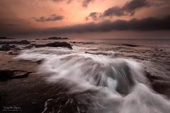 Silk (diegogm.es) Tags: espaa atardecer agua asturias paisaje gozon olympus omd verdicio cantabrico em5 sedas