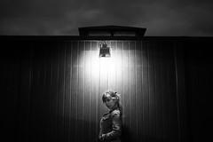The Inspiration (Fernando Lpez Cabaero) Tags: blackandwhite woman luz beauty contraluz noche nikon retrato playa paisaje ojos nubes nocturna mirada d3 foco isoalto