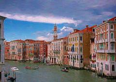 easy riding on the grand (eepeirson) Tags: venice venezia grandcanal gondola watertaxi