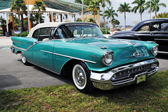 Oldsmobile 98 (Infinity & Beyond Photography) Tags: classic cars wheel us florida antique retro tires 98 chrome autos collectible tyres oldsmobile whitewalled