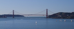 Sailing away (Michael Dunn~!) Tags: bridge sky water boats goldengatebridge sailboats angelisland suspensionbridge photowalking photowalking20110108