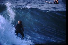 12-1969- Redondo Surf (27) (foundslides) Tags: redondobeach ca calif california analog slide slides irmalouiserudd johnhrudd foundslides kodachrome kodak vintage surfer surfers surfing breakers wave waves sports water ocean sea seasid 1969 1960s transparencies rudd irma wetsuit wet december socal southbaycameraclub south bay southbay usa surfboard