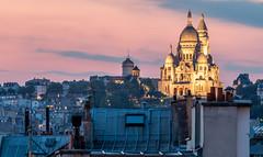 montmatre (picfromparis) Tags: city longexposure sunset paris france rooftop monument architecture night canon photography photo europe capital montmartre parisian parisien exterieur