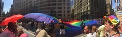 NYC Pride 2016 (Cait_Stewart) Tags: nyc newyorkcity gay panorama newyork giant flag pride parade prideparade lgbt rainbowflag iphone prideflag nycpride giantflag lgbtflag pride2016 nycpride2016 giantlgbtflag
