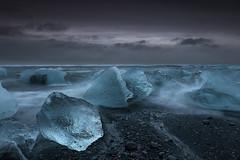 Ice Dice (Marshall Ward) Tags: iceland ice icebergs icebeach 2015 europe landscape seascape blacksand marshallward mwardphotographycom nikond800 afszoomnikkor2470mmf28ged winter stormyskies ocean sea