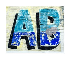 30/52: Letters (alphabetical) (hehaden) Tags: letter a b alphabet wood painted peeling 52photos2016