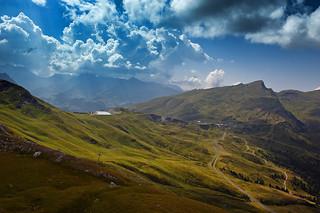I am a rock. The Lauberhorn, the Mannlichen , the Kleine Scheidegg. A view from the Eigrer Trail. No. 7853.