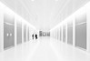 Hall (Rafakoy) Tags: architecture hub people perspective human monotones monochrome blackandwhite bw digital horizontal hall space contrast white black nikond800 camera dslr manhattan newyork station path trains worldtraincenter transportation terminal portauthority indoor ny nyc