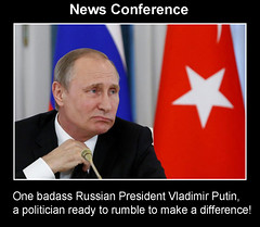 Badass Russian President Vladimir Putin (quasuo) Tags: vladimirputin politics conference badass thought satire