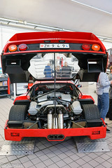 Ferrari F40 (aguswiss1) Tags: red racecar ferrari turbo maintenance million rare supercar v8 supercharged f40 superfast trackcar ferrarif40 200mph trackttol