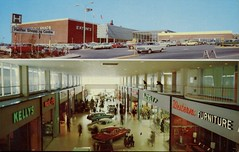 Halifax Shopping Centre, Nova Scotia (SwellMap) Tags: postcard vintage retro pc chrome 50s 60s sixties fifties roadside midcentury populuxe atomicage nostalgia americana advertising coldwar suburbia consumer babyboomer kitsch spaceage design style googie architecture shop shopping mall plaza