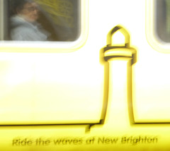 The waves of new Brighton (Thrift) Tags: merseyrail yellow underground overground metro liverpool wirral merseyside train