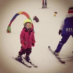 Selma loves to ski (Agnes Siljekil) Tags: ski oslo selma tryvann skidor vinterpark