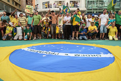Today, March 15th, 2015, millions of brazilians got out in the streets to scream for change. Peacefully, beautifully. (henrique.stel) Tags: street brazil brasil calle fujifilm rua callejera protestos xe1 forapt